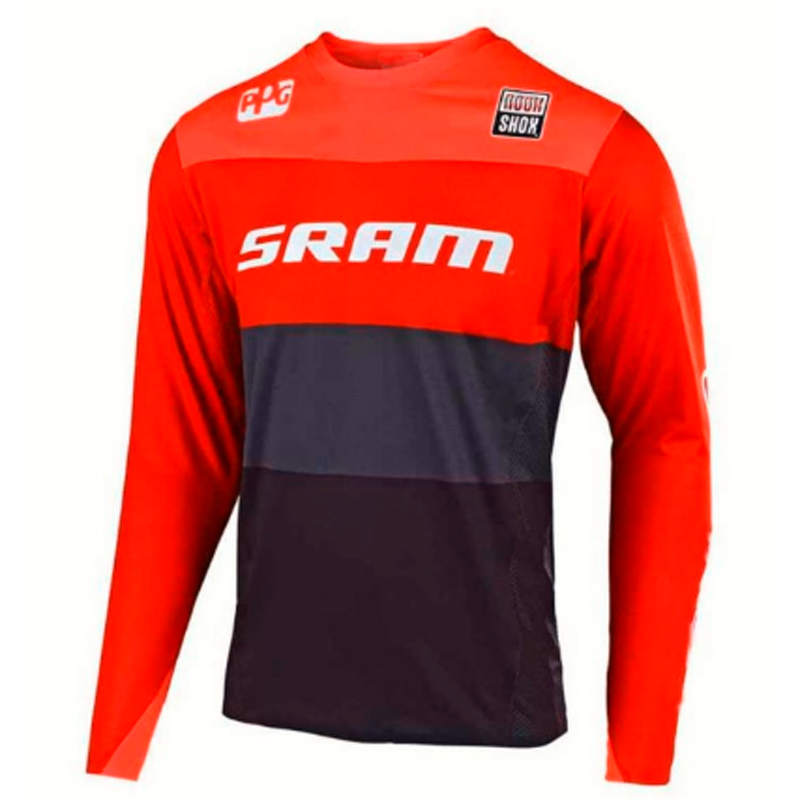 SRAM downhill jersey MX off road Mountain Bike clycling long sleeve mtb Jersey