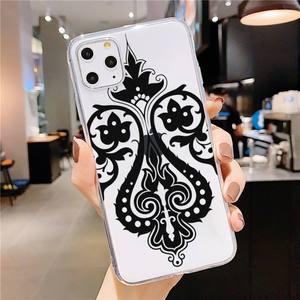 Сексуальный кружевной чехол с мандалой и цветами, чехол для телефона, прозрачный мягкий чехол для iphone 5 5s 5c se 6 6s 7 8 11 12 plus mini x xs xr pro max