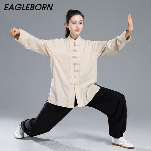 Mới Kung Fu Taichi Đồng Nhất Trung Quốc Đầm Bộ Nữ Trung Quốc Quần Áo Dành Cho Nam Trung Quốc Truyền Thống Quần Áo Dành Cho Nữ Đồng Nhất