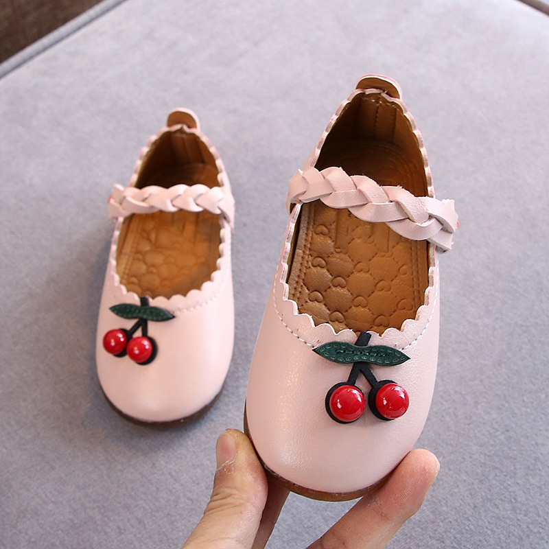 Autumn Children Casual Shoes Princess Flat Sneakers Girls Baby Soft Sole Single Shoes Kids Leather Shoes Girls Dance Shoes
