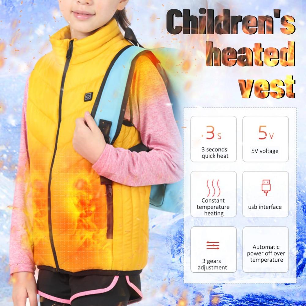 Inverno unisex para crianças aquecimento usb algodão