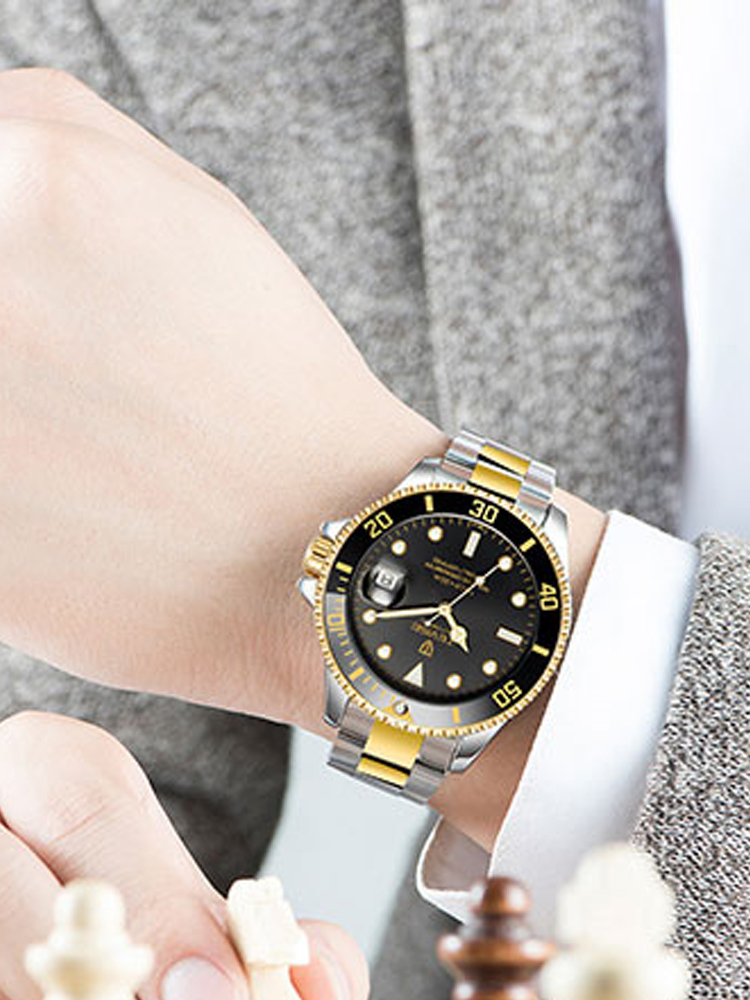Tevise Clock Mechanical-Watch Men Automatic Luxury Male Fashion Masculino Stainless-Steel