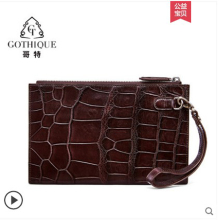 gete crocodile  Envelope bag mens business clutch casual fashion American alligator belly wrist