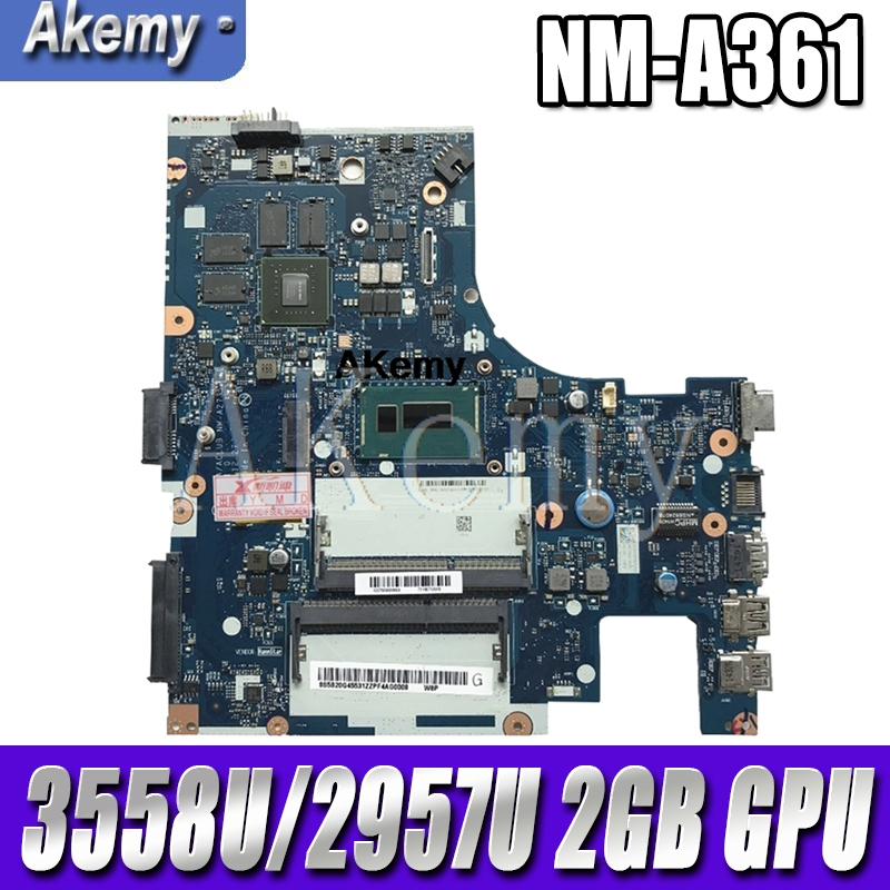 ACLU3/ACLU4 <font><b>NM</b></font>-<font><b>A361</b></font>/<font><b>NM</b></font>-A271 motherboard for Lenovo G50-80 G50-80M notebook motherboard CPU 3558U/2957U 2GB GPU DDR3 100% test image