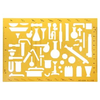 Plastikowe szablony chemiczne instrumenty chemii fizycznej rysowanie linijki projektowej dla studentów elastyczne tanie i dobre opinie Linijka CN (pochodzenie) Convenient Life Supermarket 2207 Store Z tworzywa sztucznego