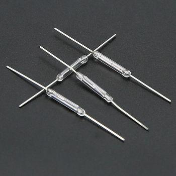 10 sztuk 14mm szklany magnetyczny indukcyjny przełącznik trzcinowy MagSwitch normalnie otwarty NO tanie i dobre opinie