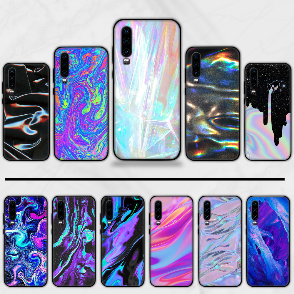 holographic Prism Laser Cover Mirror Bling Cute Phone Case For Huawei Y5 Y6 II Y7 Y9 PRIME 2018 2019 NOVA3E P20 PRO P10 Honor 10