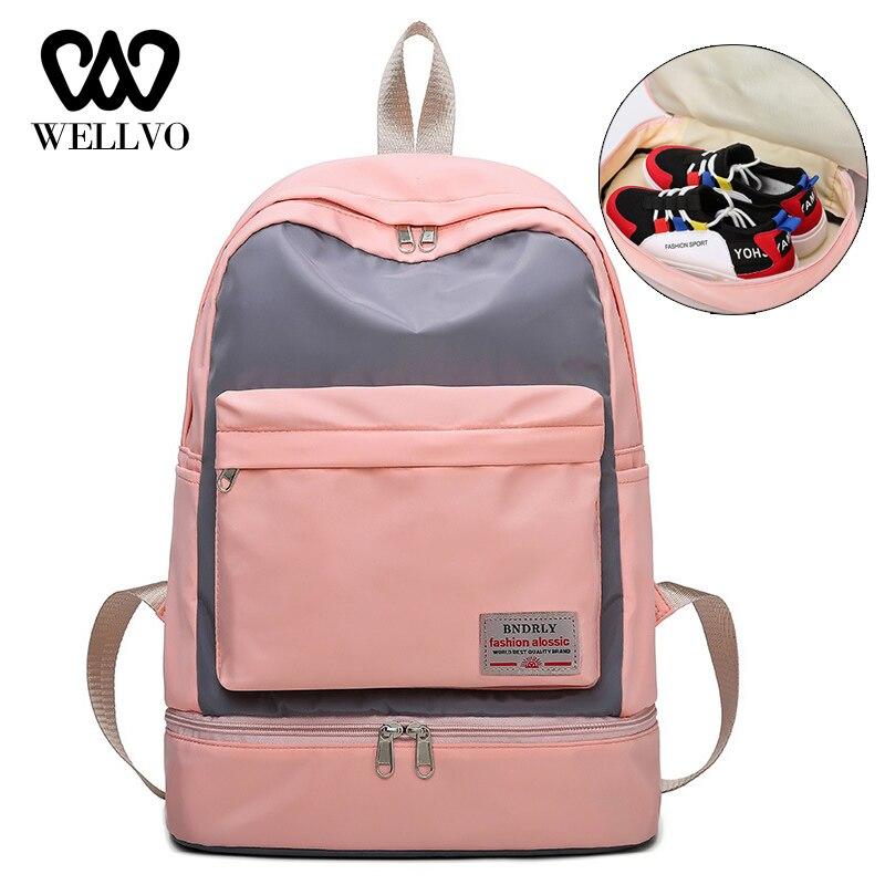 Large Capacity Women Gym Backpack High Quality Waterproof Nylon Sprots Backpack Fitness Backpacks  Sac Sprot Dry Wet Bag XA832WB