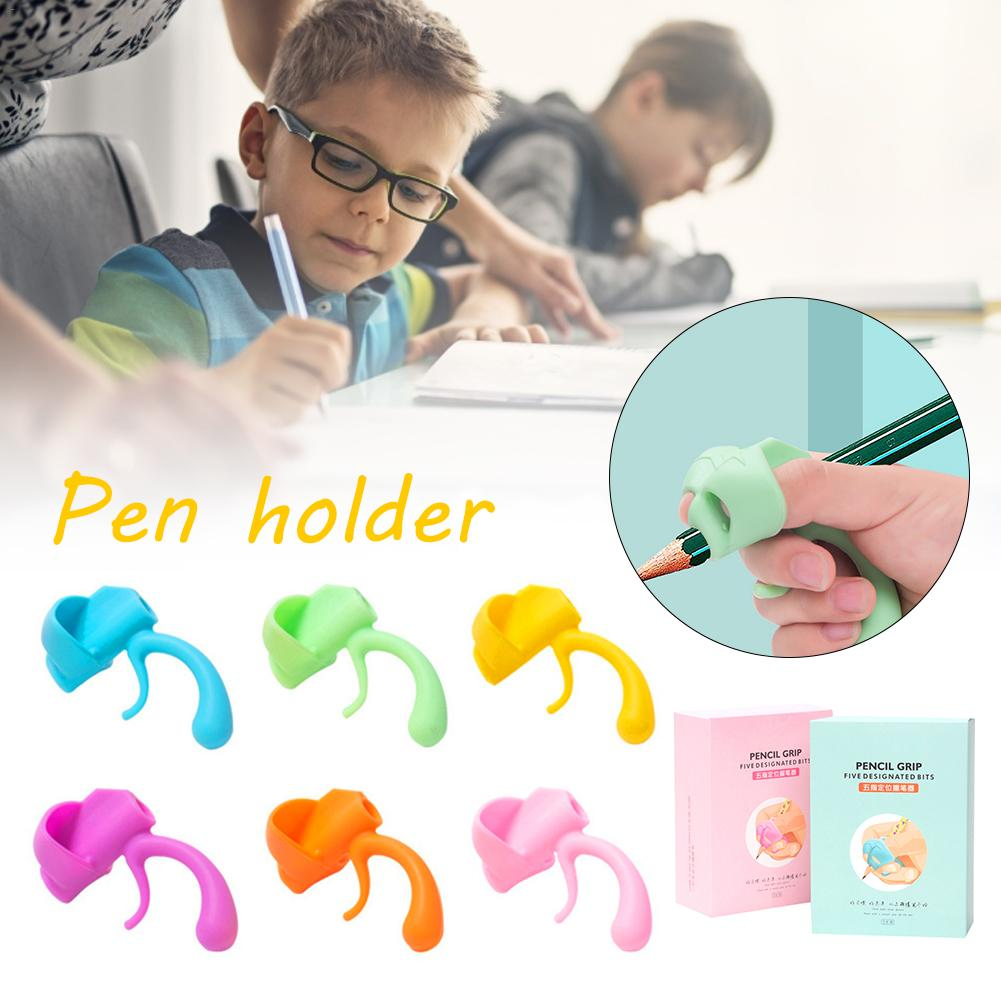 Children Writing Pencil Pan Holder Kids Writing Posture Correction Silicone Pen Aid Grip Posture Correction Device For Left-hand