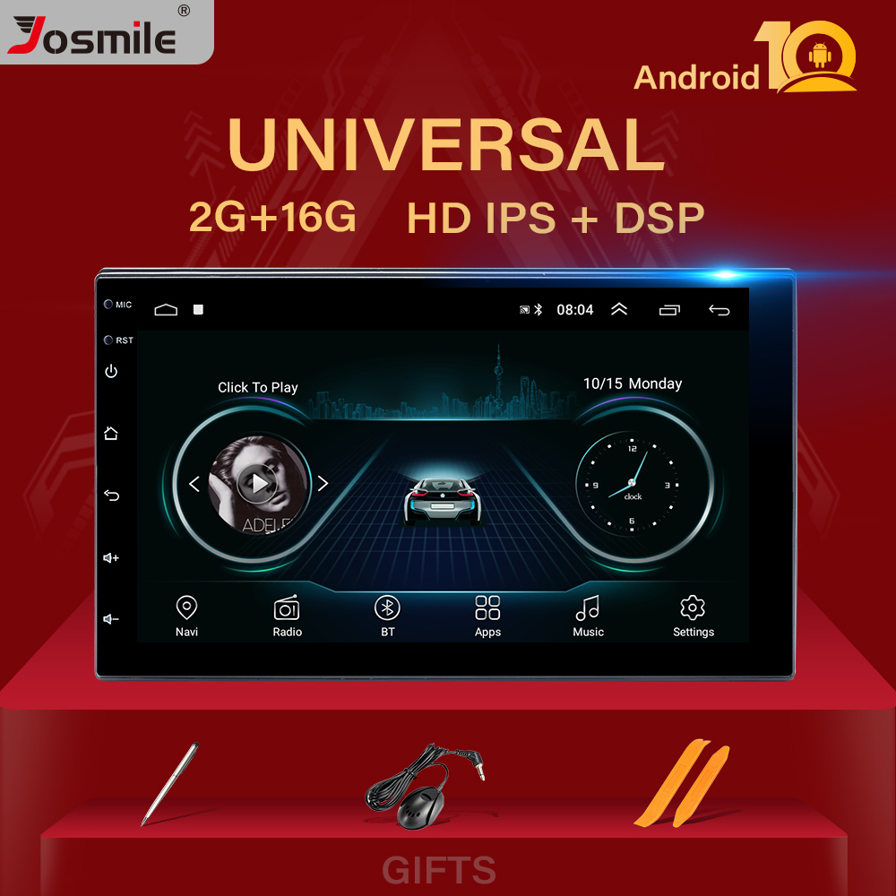 2 Din Android 9.0 Car Radio Head Unit For Nissan Note Xtrail Qashqai Almera Universal Multimedia Audio GPS Navigation Stereo 2GB