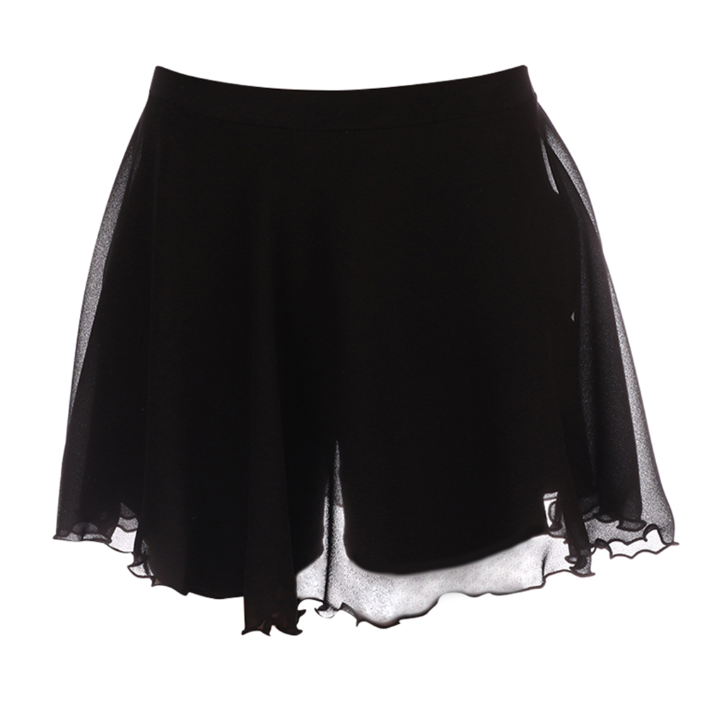 Women Ice Skating Dress Roller Dancing Clothing Double-Layer Short Pants