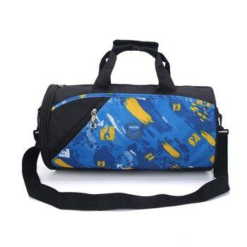 Gym Bags Women Men Training Fitness Bag Waterproof Cylinder One Shoulder Outdoor Sport Swimming Travel Package Handbag - discount item  25% OFF Sport Bags