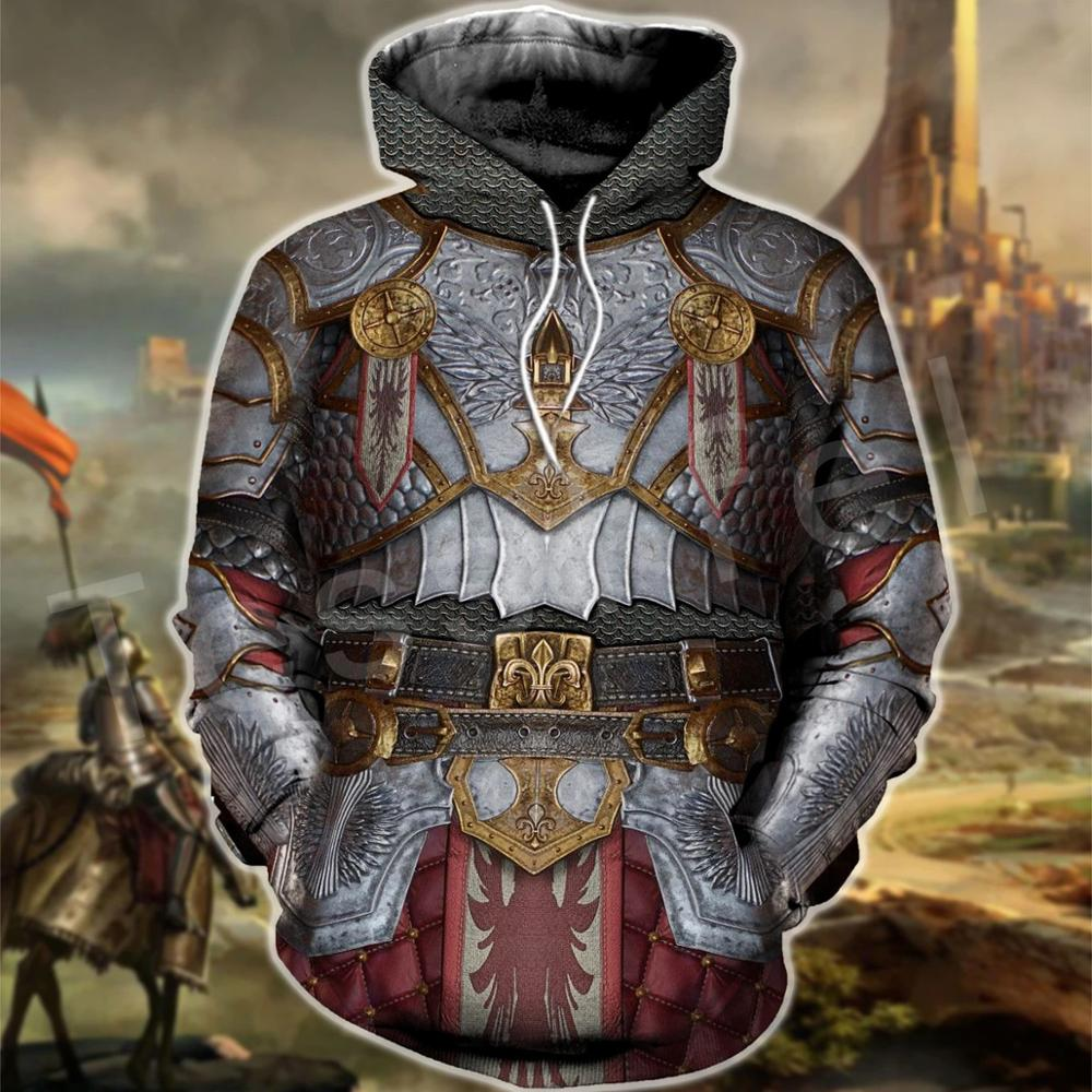 Tessffel Knights Templar Armor Pullover NewFashion Harajuku Tracksuit 3DfullPrint Zipper/Hoodies/Sweatshirt/Jacket/Men/Women S-4