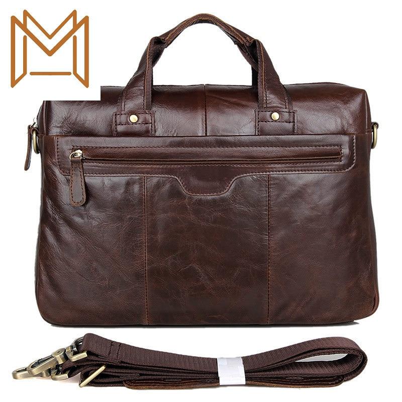 Head Layer Genuine Leather Male Package Single Shoulder Messenger Handbag Computer Briefcase