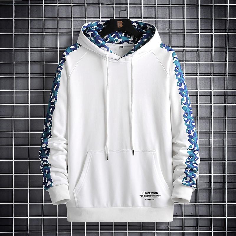 2020 outono primavera moda mais oversize 6xl 7xl 8xl masculino preto branco hip hop manga comprida pulôver hoodies moletom roupas