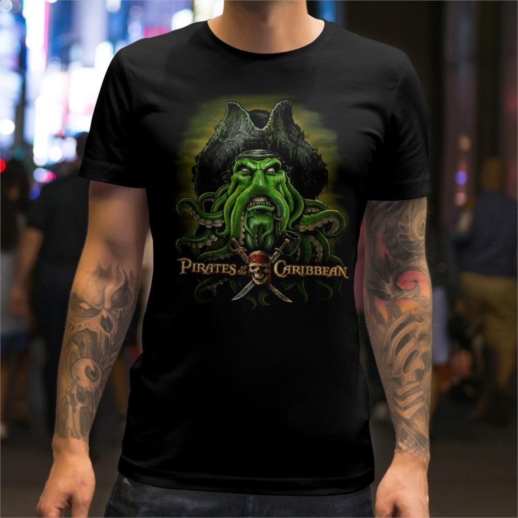 Pirates Of The Caribbean Davy Jones Unisex T-Shirt  New Arrival Men T Shirt New
