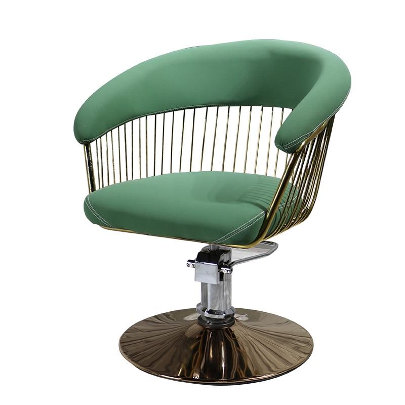 Fashion Barbershop Hairdressing Chair Hair Salon Special Ins Hair-cutting Chair Simple Japanese Lifting Chair Retro