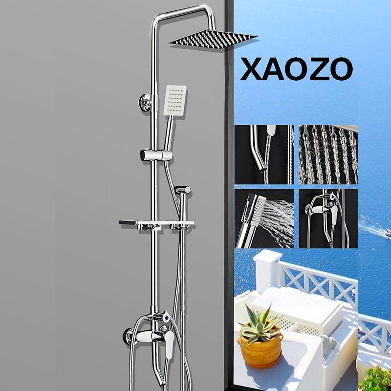 Спа Ванная комната набор для душа дождь Насадки для душа Ванна Душ 360 градусов вращающийся смеситель с ручным душем смеситель для душа Тропи...