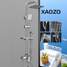 SPA Bathroom Shower Set Rain Shower Head Bath Shower 360 degree rotatable Mixer with Hand Shower Faucets Rainfall Chrome Showers