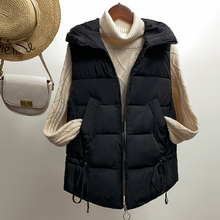 Women winter vest 2019 Casual Autumn short hooded sleeveless waistcoat coat zipper outwear jacket