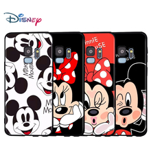 Black Soft Mickey and Minne BFF For Samsung Galaxy A9 A8 A7 A6 A6S A8S Plus A5 A3 Star 2018 2017 2016 Phone Case