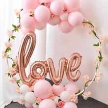 Romantic Wedding Bruid Folie Ballon Bruiloft Decoratie Baby Shower Valentijnsdag Party Alfabet Balaos Decor Supplies DIY