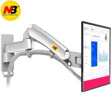 """Mola de gás nb f300 360 graus 30 40 """"suporte do monitor do lcd da montagem da parede da tevê espelho de alumínio braço polonês"""