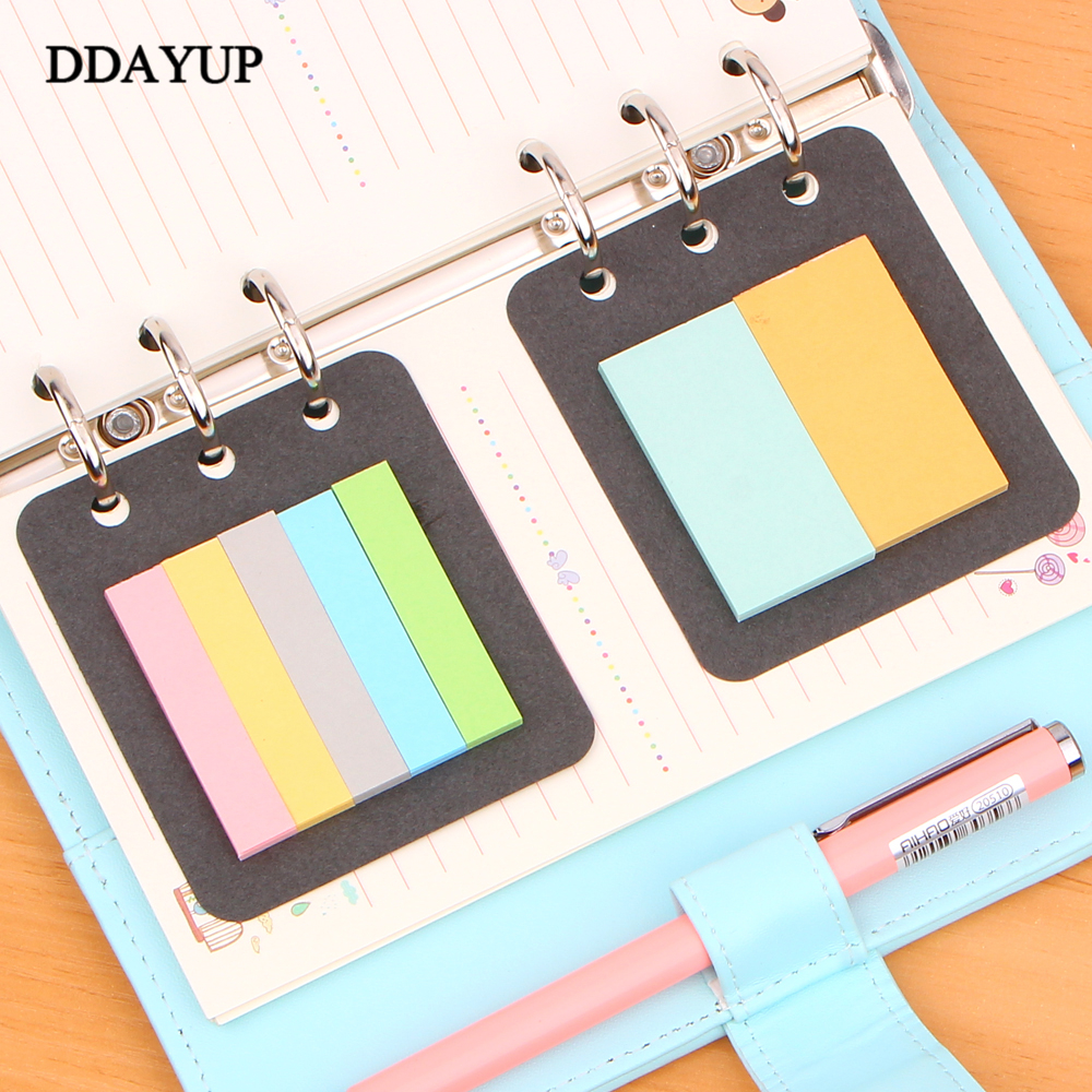 Papelaria <font><b>2</b></font> Pcs/pack 6 <font><b>Holes</b></font> A5a6 <font><b>Binder</b></font> Planner Filler Sticky Notes Diario Note-taking Planning Adhesive Planner's Portable image