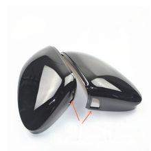 Preto para golf 8 mk8 espelho capa traseira espelho lateral tampa habitação apoio lane mudança lado auxiliar ponto cego auxiliar