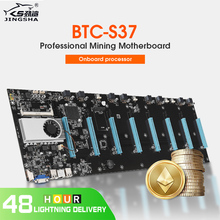 Płyta główna Ethereum Mining z 8 gniazdami GPU (interwał 65mm) i zintegrowaną pamięcią DDR3 CPU VGA o niskim poborze mocy tanie tanio jingsha Płyty główne Procesor Chłodzenie NONE Intel H77 PROCESOR NA PŁYCIE SATA 1x RJ45 BTC-S37 Laptop Serwer stacja robocza