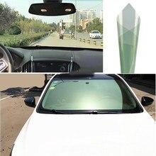 76cmx1.5m 80% vlt verde auto pára-brisas matiz da janela traseira do pára-brisas dianteiro filmes solares casa resistente a riscos folhas