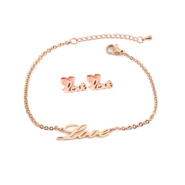 Love Heart Honey Earring Bracelet 5