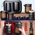 Исин фиолетовый песок чайный набор черный/красный керамический кунг-фу чайный горшок gaiwan фиолетовый песок чайный горшок чайная чашка чайна...