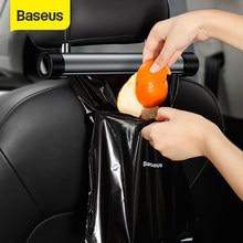 Baseus Organizer na fotel samochodowy wnętrze kosz na śmieci metalowy samochód przechowywanie worki na śmieci dla Auto Organizer na tylne siedzenie akcesoria