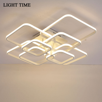 Modern LED Ceiling Light For Living Room Dining Room Bedroom Home Surface Mounted Ceiling Lamp Fixtures Remote Control 110 220V yeelight smart led ceiling lamp indoor lighting modern led light fixture app remote control surface mounted for living room 50w
