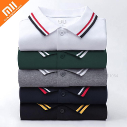 Xiaomi 90 Point Short Sleeve Polo Shirt Classic Lapel Short Sleeve Shirt Summer Leisure Cotton Polo Sportswear Smart Home Mijia