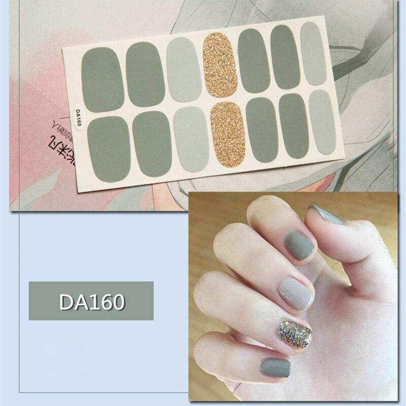 Купить 14 наконечников/лист для ногтей обертывания наклейки полоски