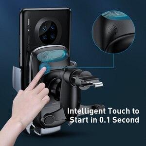 Image 5 - Baseus qi 무선충전기 핸드폰거치대 충전기 아이폰 11 프로 xs 최대 삼성 s10 지능형 적외선 핸드폰 거치대 빠른 무선 충전 자동차 전화 홀더 무선충전패드