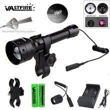 T50 zoomable infravermelho arma luz 850nm ir night vision iluminador 50mm lente de foco caça lanterna para 25.4mm anel/montagem