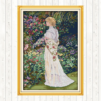 Floral Aromas DIY Needlework Crafts DMC Cotton Thread Printed Canvas Cross Stitch Embroidery Kits 14CT 11CT Counted and Stamped swing handmade dmc cotton thread printed canvas cross stitch embroidery kit 14ct 11ct counted and stamped diy needlework crafts
