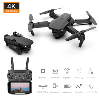Foldable RC Helicopter Mini Drone With 4k HD Camera Wide-angle WiFi Real-time Transmission FPV Quadcopter Toys For Kid