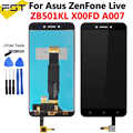 5.0 ''For Asus ZenFone Live ZB501KL X00FD A007 Display LCD + Touch Screen Digitizer Assembly con Cornice di Ricambio Parti di + strumenti