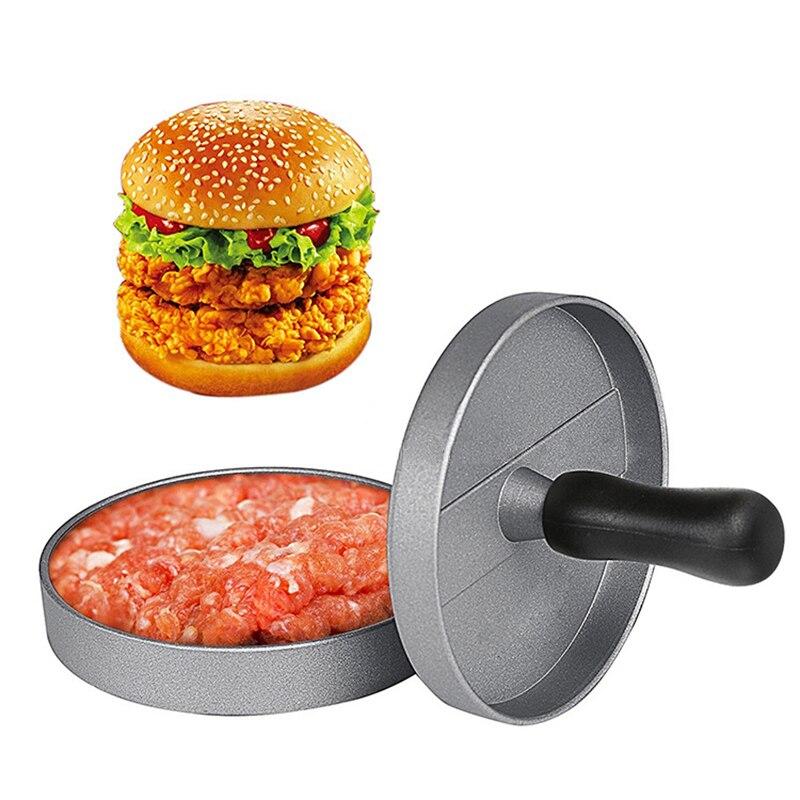 Durable Aluminum Hamburger Maker Hamburger Press Round Shape Non Stick Chef Cutlet Meat Beef Grill Burger Press Patty Maker Mold|Manual Burger Press Machines| |  - title=