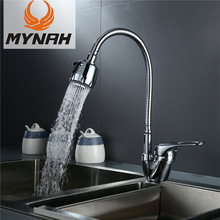 MYNAH Solid Kitchen Mixer Cold and Hot Flexible Kitchen Tap Single Lever Hole Water Tap Kitchen Faucet Torneira Cozinha