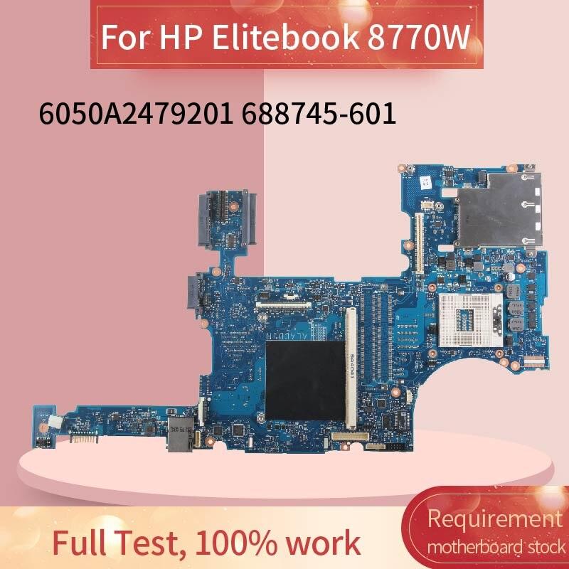 688745-601 688745-501  Laptop Motherboard For HP Elitebook 8770W Notebook Mainboard 6050A2479201 SLJ8A DDR3