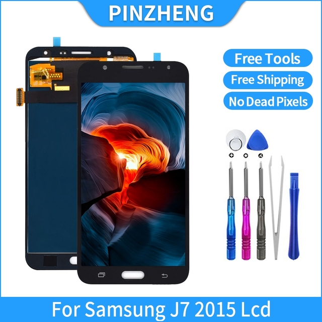 PINZHENG 100% Original Quality LCD For Samsung Galaxy J7 2015 J700 J700F J700H J700M LCD Display Touch Screen Digitizer Assembly