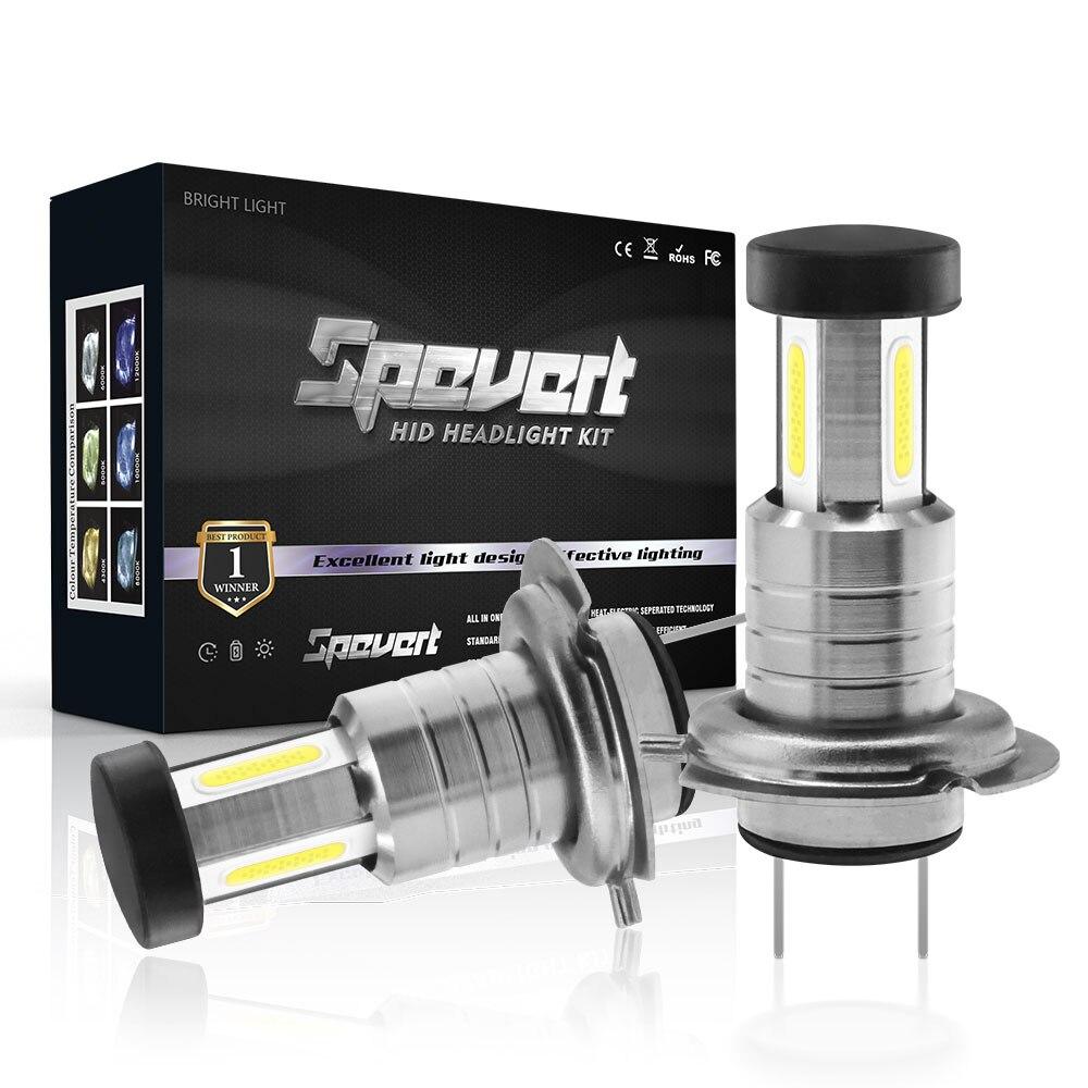SPEVERT Upgrade 110W 30000LM H7 LED Canbus Headlight Kit HXP 5050SMD Chip Car Headlamp Bulb Fog Lamps Bright White 6000K 12V