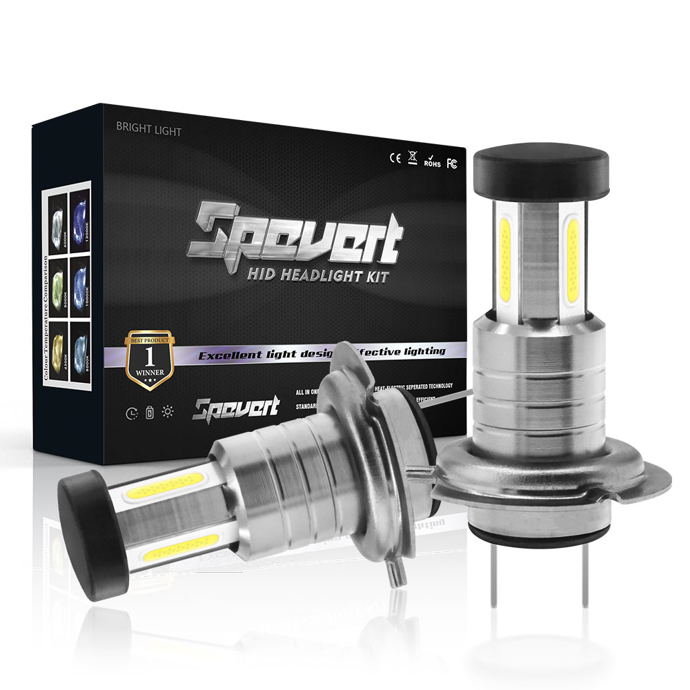 SPEVERT Upgrade 110W 30000LM <font><b>H7</b></font> <font><b>LED</b></font> Canbus Headlight Kit HXP 5050SMD Chip Car Headlamp Bulb Fog <font><b>Lamps</b></font> Bright White 6000K 12V image