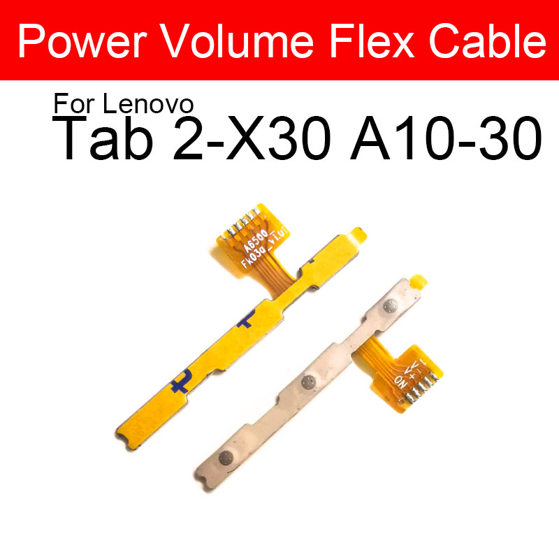 Volume&Power ON/OFF Side Button Flex Cable For Lenovo Tab 2-X30 A10-30 Power Volume Switch Button Flex Ribbon Replacement Parts