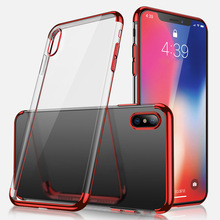 Shockproof Plating Clear Slim Hybrid Bumper Case Cover For iPhone X AS99